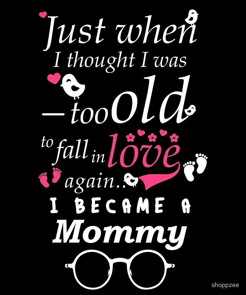 I Became Mommy Grandma Grandmother by shoppzee
