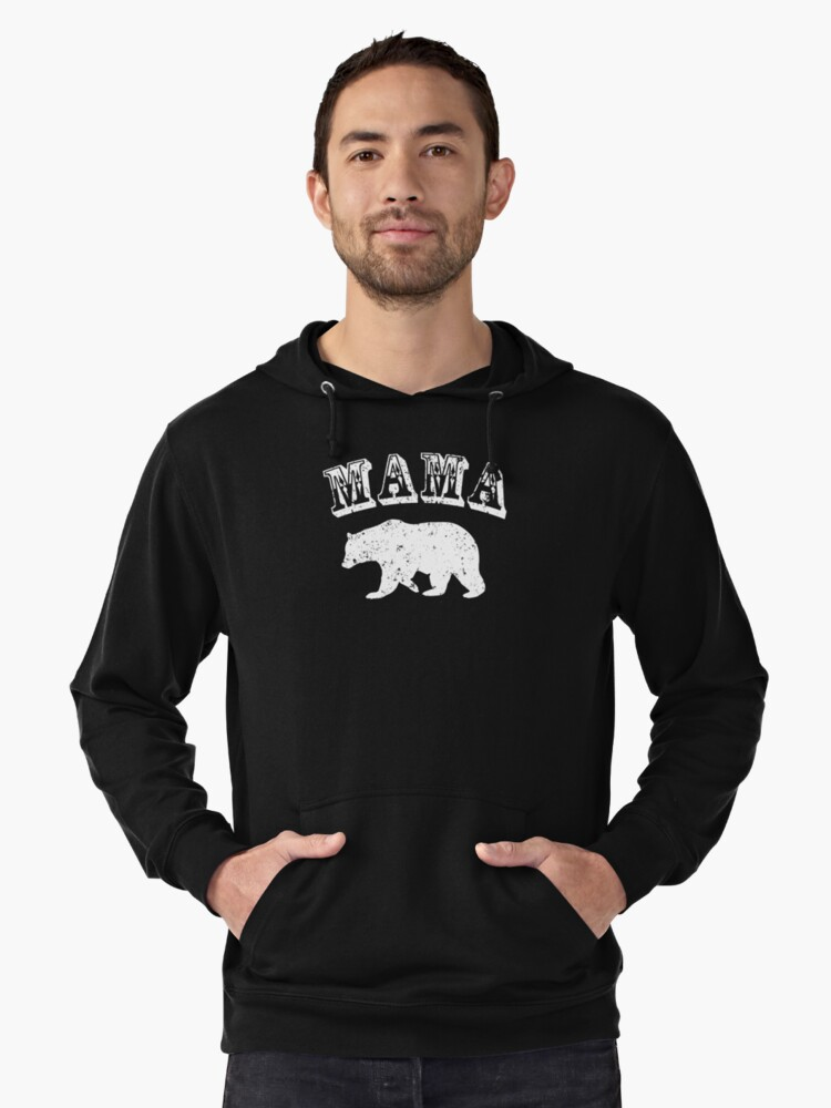 Momma Bear Gifts For Mom & Grandma Lightweight Hoodie Front