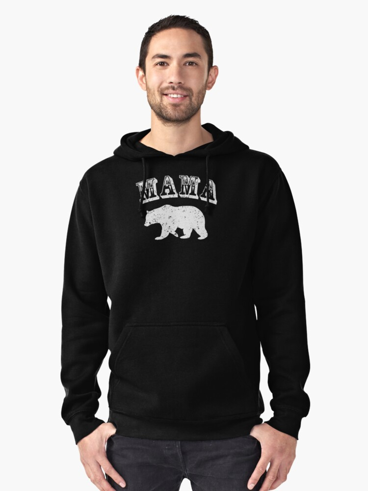 Momma Bear Gifts For Mom & Grandma Pullover Hoodie Front