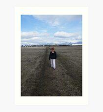 A walk on the prairie.... Art Print