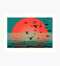 Sunset in Aberdeen Art Print