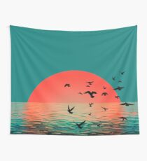 Sunset in Aberdeen Wall Tapestry