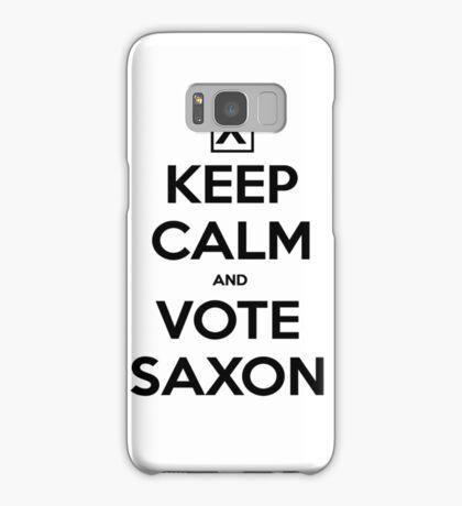 Vote Saxon - White Samsung Galaxy Case/Skin