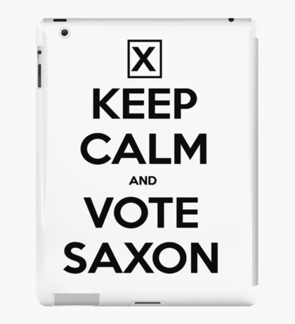 Vote Saxon - White iPad Case/Skin