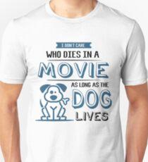 Camiseta ajustada Funny Cool Dog Saying Camiseta Movie Dog Talk Shirt Cool Gift Idea Siempre y cuando el perro viva el té