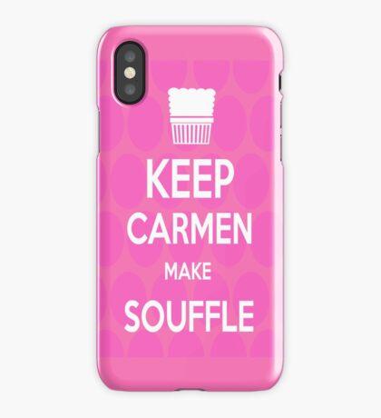 Keep Carmen make Souffle iPhone Case