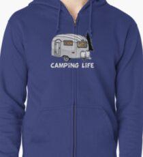 Camping Life Vintage Camper in der Wildnis - Woods Kapuzenjacke