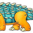 Ankylosaurus by Rowena Aitken