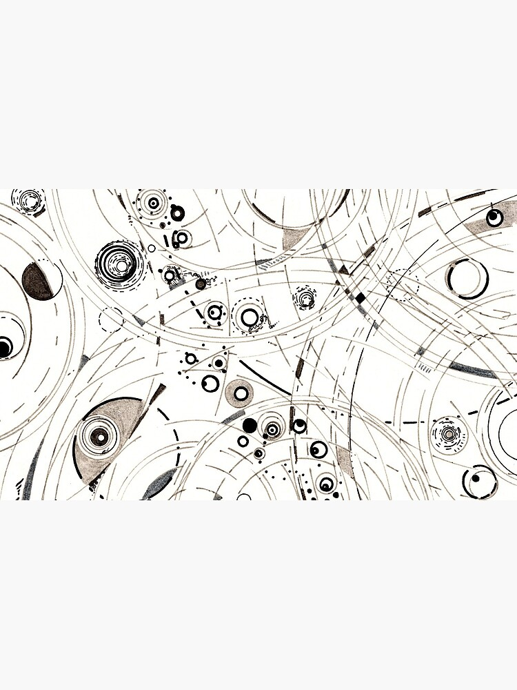 Diffracting Around - ink drawing by rvalluzzi