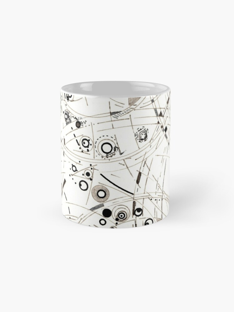 Alternate view of Diffracting Around - ink drawing Mug
