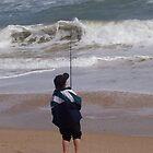 beach fishing by dennis wingard