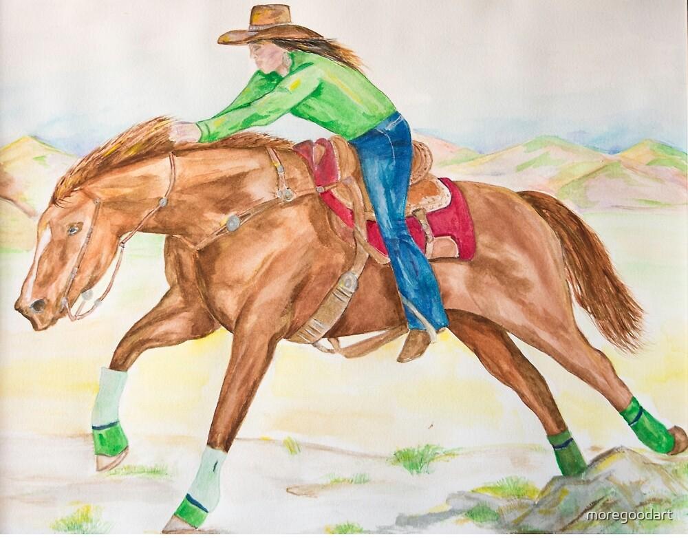 Ride Cowgirl Ride by moregoodart