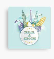 Travel & Explore Metal Print