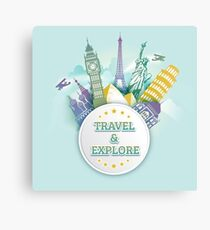 Travel & Explore Canvas Print