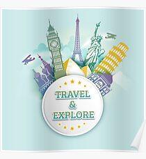 Travel & Explore Poster