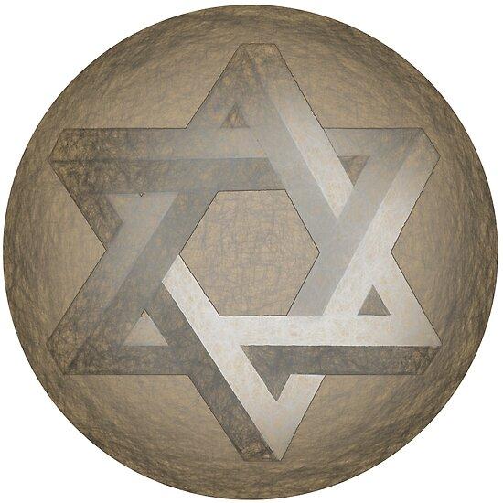Arte de la cruz judía. Estrella de seis puntas. Imposible. Ilusión óptica. 9e65d394a4234