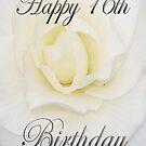 White Flower Happy 16th Birthday  by martinspixs