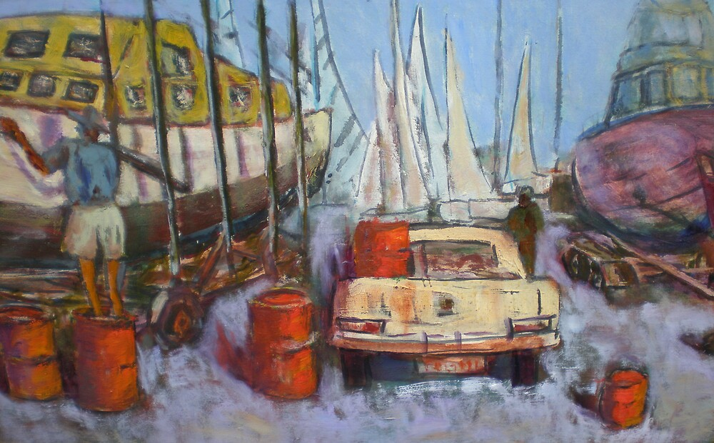 Flying Squadron Yacht Club by David Hinchliffe