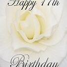 White Flower Happy 17th Birthday  by martinspixs