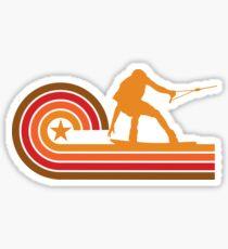 Retro Style Wakeboarder Silhouette Wakeboarding Sticker