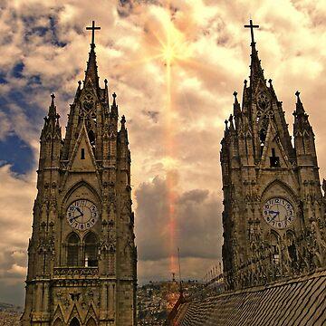 Virgen de El Panecillo and Basilica del Voto Nacional II by alabca