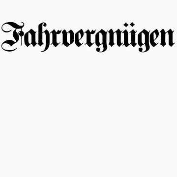 Fahrvergnügen Germanic - Black Ink by VolkswagenGuy