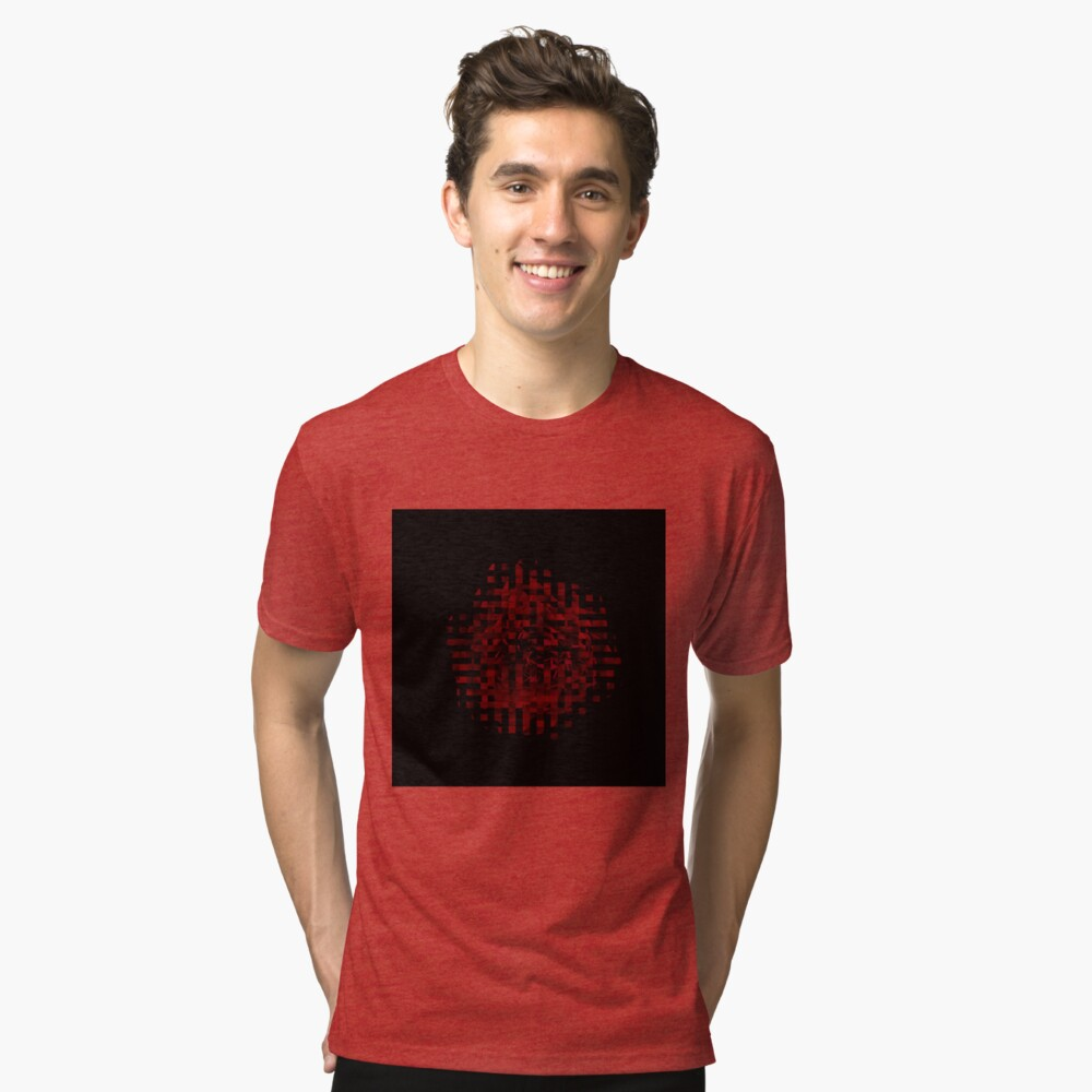 Red roses Tri-blend T-Shirt Front