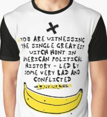 Funny My Donald is Bananas Political Satire Tweets Quotes Puns Graphic T-Shirt