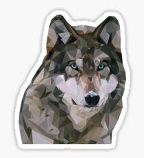 Facet Wolf Sticker