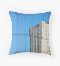 Glass Building Throw Pillow