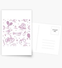 Equipment for sports activities for children. Postcards
