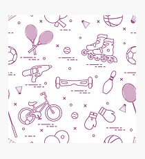 Equipment for sports activities for children. Photographic Print