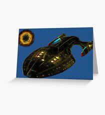 Stealth Spaceship Greeting Card