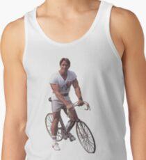 Arnold auf einem Fahrrad Tanktop für Männer