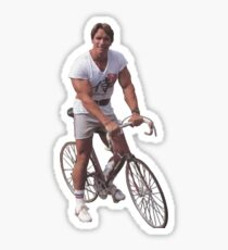 Arnold on a Bike Sticker