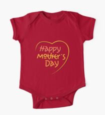 Happy Mother's Day1 One Piece - Short Sleeve