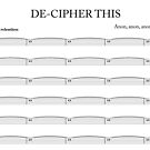 De-cipher this by Jenny Setchell