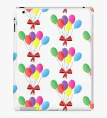 balloon bouquet - balloons set with red ribbon - cute and colorfull iPad Case/Skin