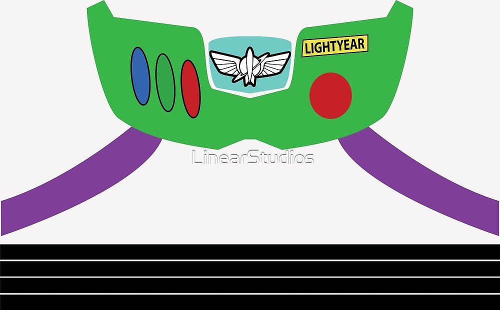 Quot Buzz Lightyear Costume Front Quot By Linearstudios Redbubble