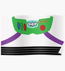 Buzz Lightyear Costume Front Poster