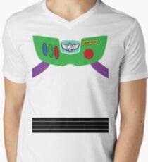 Buzz Lightyear Costume Front Men's V-Neck T-Shirt
