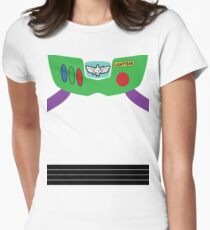 Buzz Lightyear Costume Front Women's Fitted T-Shirt