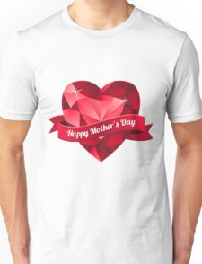 Happy Mother's Day heart pattern Unisex T-Shirt