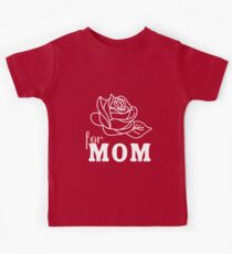 Mom flower Mother's Day Kids Tee