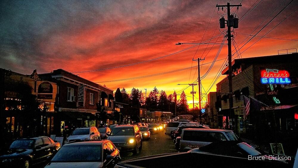 multnomah sunset by Bruce  Dickson