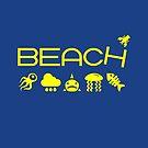 Anti-Beach Icons Monotone Dark by TinyStarAmerica
