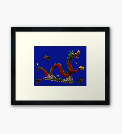 Floral Dragon in Le Thai Park, Hanoi Vietnam Framed Print