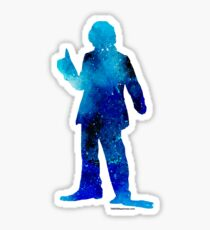 The 4th Doctor - Doctor Who Art Print Sticker
