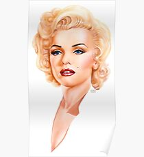 Marilyn Monroe. Hollywood Icon. Movie star Poster