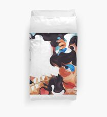 Daughter and Mother Children's Book Illustration Duvet Cover